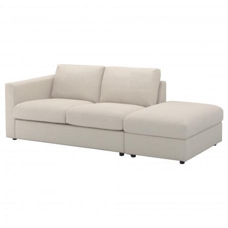 3-местный диван ВИМЛЕ с открытым торцом, Гуннаред бежевый фото 0