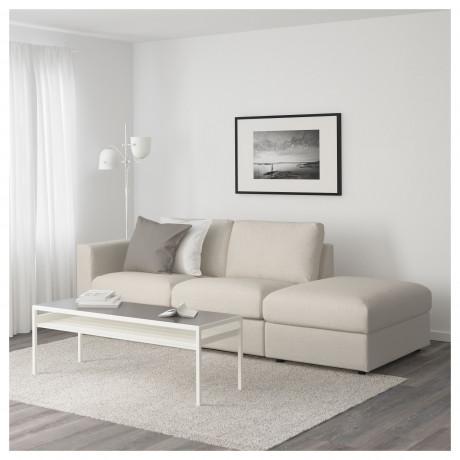 3-местный диван ВИМЛЕ с открытым торцом, Гуннаред бежевый фото 1